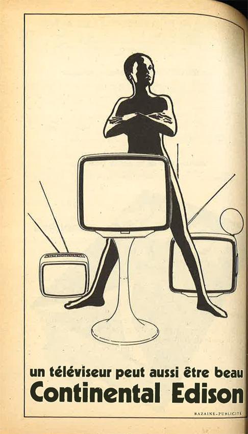 Publicité Poésie 1 Edison Continental août-juillet 1976
