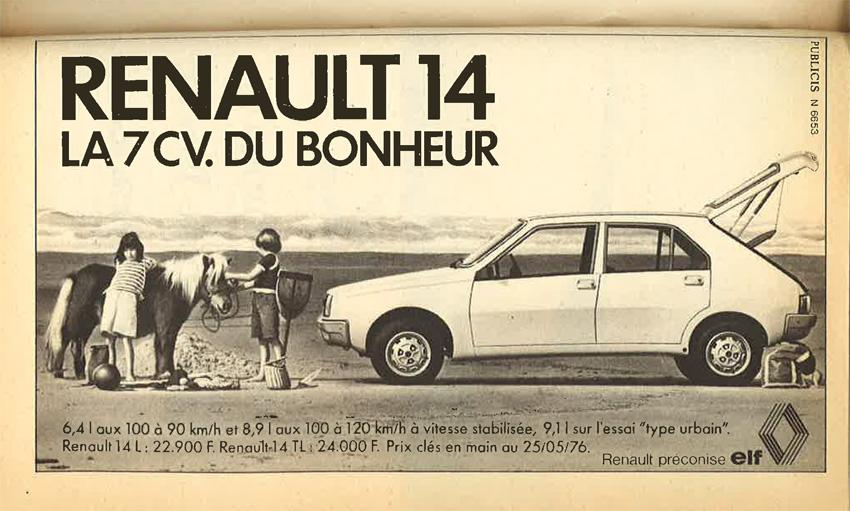 Publicité Renault in Poésie 1 juillet août 1976
