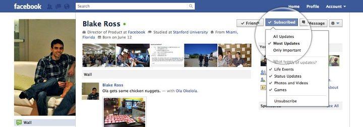 Abonnement FaceBook, quelle différence cela fait-il ?